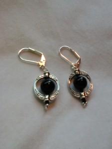 Earring silver w/ black onyx $15.00